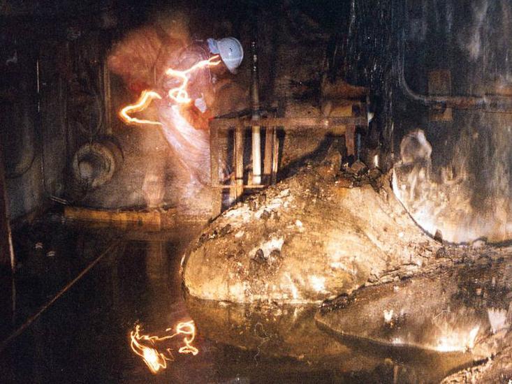 Chernobyl glowing