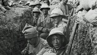soldiers in trench