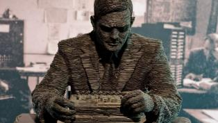 Alan Turing sculpture Bletchley Park Stephen Kettle