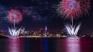 NY skyline fireworks hero