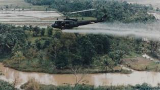 helicopter spraying Agent Orange